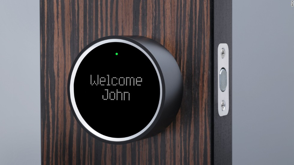 Keyless home deadbolt locks are expected to come into the mainstream in the future. The Goji Smart Lock, pictured, is due next month and the August smart lock later in the spring. They require only a smartphone with Bluetooth 4.0 or a Bluetooth 4.0 key fob to unlock.