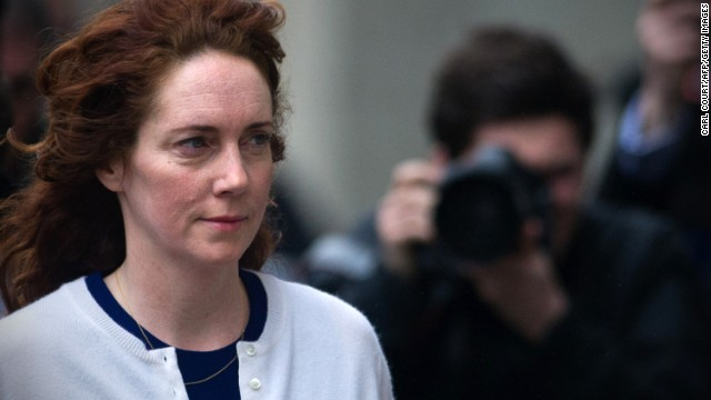 Former News of the World chief executive Rebekah Brooks arrives at court in London on February 20, 2014.