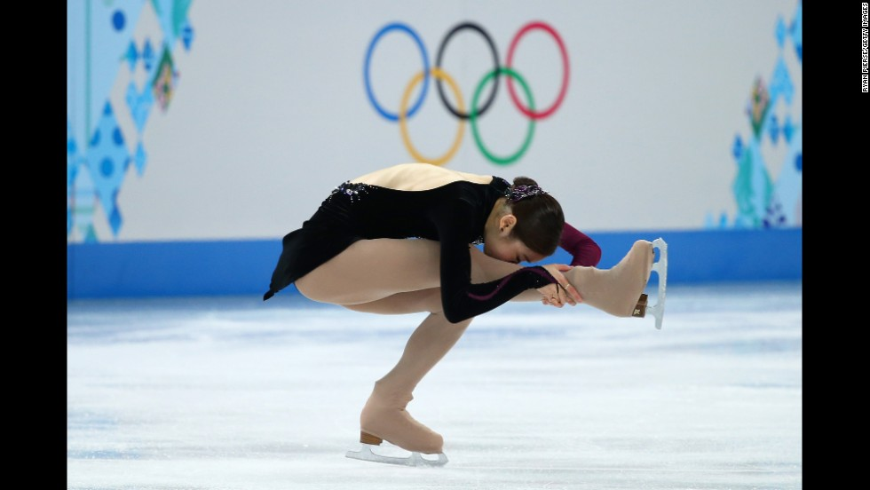 Kim, competing February 20, hoped to win her second consecutive Olympic gold.