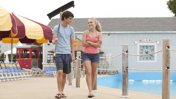 """""""The Way, Way Back"""" (2013):  A touching, witty new take on """"How I Spent My Summer Vacation,"""" the film stars Liam James, left, as a 14-year-old who joins his mother (Toni Collette) and her unbearable boyfriend (Steve Carell) and his daughter at a beach resort town. Duncan survives by striking up an unexpected friendship with water park manager Owen (Sam Rockwell). AnnaSophia Robb, right, as a next-door neighbor, also wins his affection."""