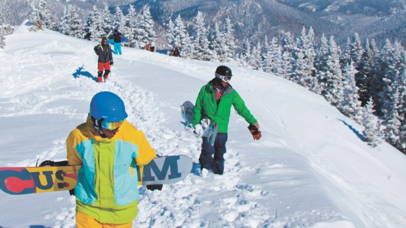 "Taos in New Mexico was only established in 1956 but now has 110 trails, 13 lifts and is immensely popular with skiing and snowboarding aficionados.  They are drawn by the challenging runs and the ""laid back"" attitude of the resort and its local community."