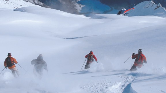 Heli-skiing is the order of the day in New Zealand's Southern Alps with seven different ranges offering nearly 2,000 square kilometers of snow to drop into. A mixture of steep hills and glacial terrain are on offer as well as stunning scenery.