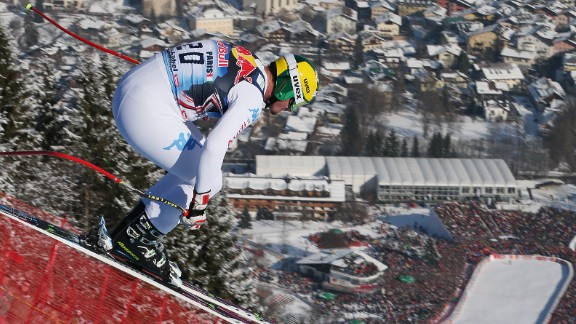 Kitzbuehel in Austria is home of the famous Hahnenkamm Hill which challenges the best skiers in World Cup competitions.