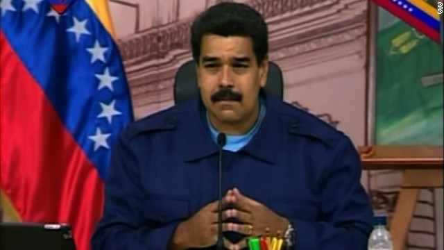 Venezuela's President Nicolas Maduro invited CNN's Karl Penhaul to ask a question in a nationally televised news conference Friday, February 21, 2014. Earlier Maduro called out CNN, Fox and other US-based media claiming that they are encouraging opposition forces against the government.