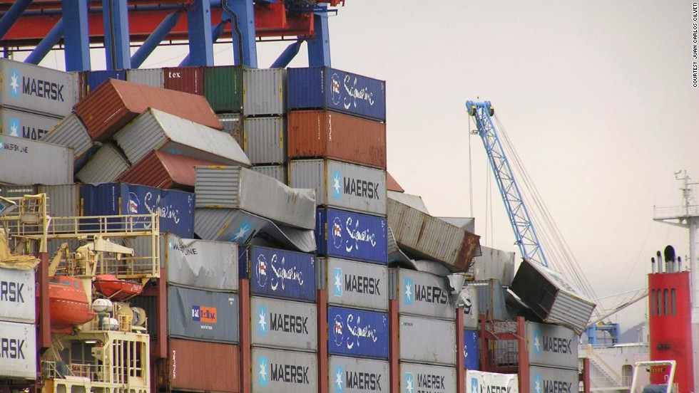 Ship loses more than 500 containers in heavy seas - CNN