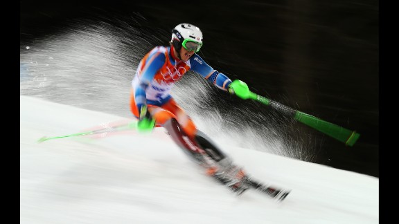 Henrik Kristoffersen of Norway in action on February 22 during the men