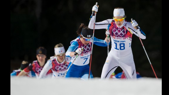 Sara Linborg of Sweden competes in the women