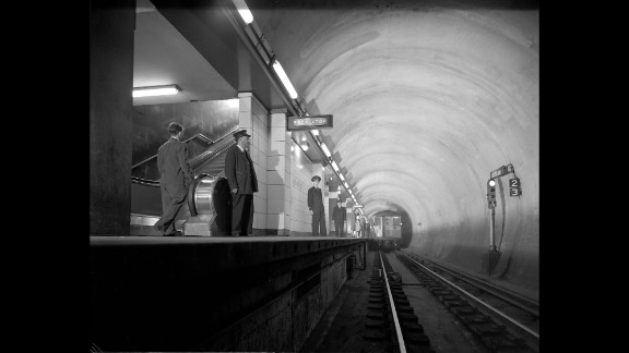 A Chicago subway station is seen on July 18, 1944.
