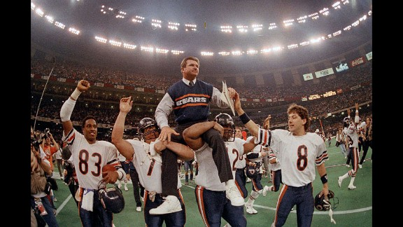 "Former Chicago Bears head coach Mike Ditka (center) is also endorsing Trump. ""I do like Donald Trump. I think sometimes he"