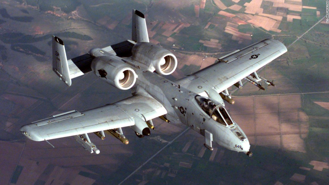An A-10 Thunderbolt II from the 52nd Fighter Wing, 81st Fighter Squadron, Spangdahlem Air Base, Germany, in flight during a NATO Operation Allied Force combat mission.