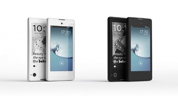 8. In other tech: Russia's YotaPhone showed off an Android handset with an interactive e-ink display on its back.