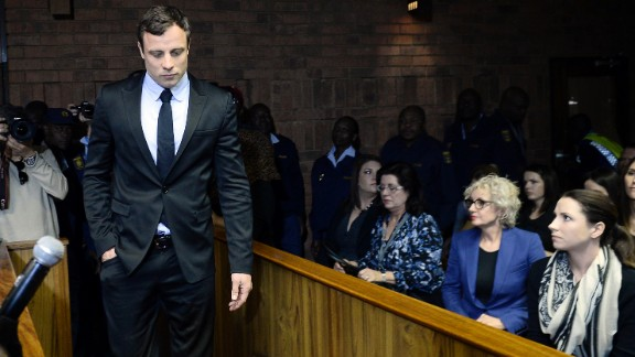 South African sprinter Oscar Pistorius was charged with murdering his girlfriend, model Reeva Steenkamp, in February 2013. Pistorius, the first double-amputee runner to compete in the Olympics, was convicted of murder and sentenced to six years in prison.