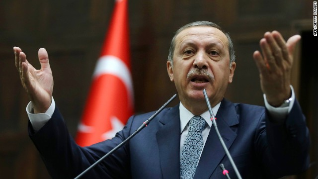 Calls for Turkish PM to flee or resign