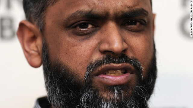 Former Guantanamo Bay detainee British citizen Moazzam Begg speaks during a press conference in central London on January 10, 2012, to mark the 10-year anniversary of the arrival of the first detainees at the US military prison facility at Guantanamo Bay.