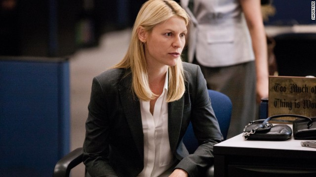 "Claire Danes plays a CIA agent in ""Homeland."""