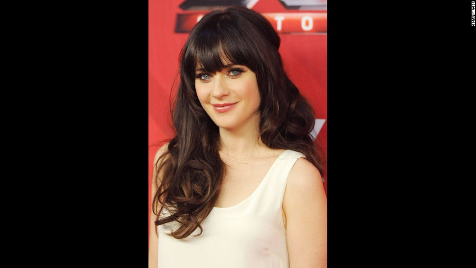 "Zooey Deschanel -- To see the rest of the gallery <a href=""http://www.elle.com/pop-culture/celebrities/best-celebrity-bangs-in-history?link=rel&dom=cnn_living&src=syn&mag=elm"" target=""_blank"">visit Elle.com</a>."