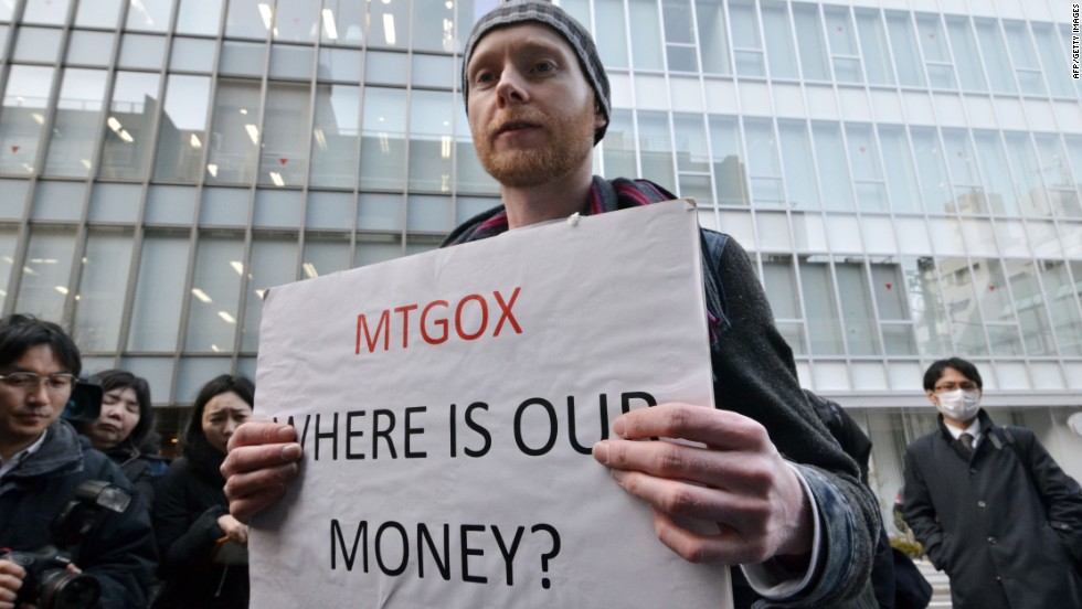 Mt Gox, one of the world's largest Bitcoin exchanges, crashes in February 2014 costing those using its services millions of dollars. Investors were prevented from withdrawing money in early February with Mt Gox citing technical and security difficulties. The Japan-based company then filed for bankruptcy in Tokyo and the United States later that month, claiming 850,000 Bitcoins (with a rough value of $477 million) had gone missing after the exchange was hacked.