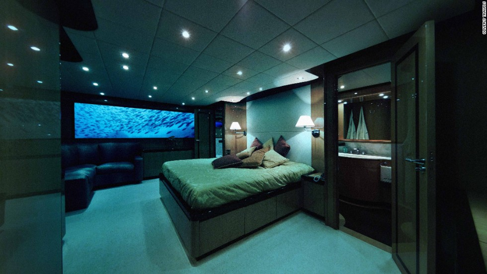 No need to worry about privacy -- the captain, chef and butler on board occupy separate, soundproof quarters.