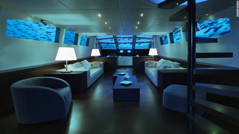 High-end vacationers can choose how to deck out the interior. Here's an artist's impression of the lounge.