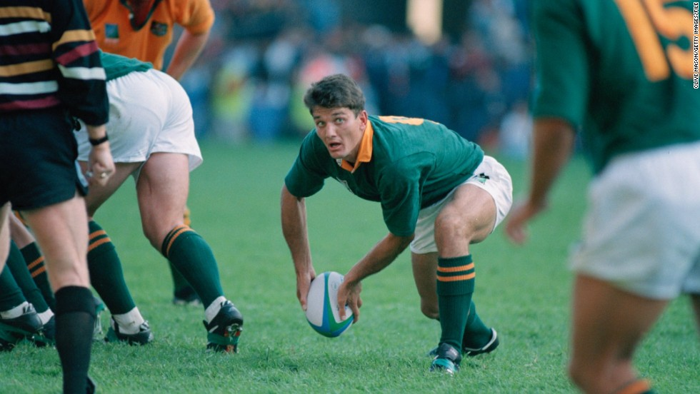 "In 1995 Van der Westhuizen was part of the South Africa team which went down in sport history. The Springboks, led by captain Francois Pienaar, won the 1995 rugby World Cup final on home soil and were presented with the trophy by late president Nelson Mandela. It was a defining moment for the emerging, post-apartheid South Africa. The team's World Cup win was the inspiration for the movie ""Invictus"", starring Matt Damon as Pienaar and Morgan Freeman as Mandela."