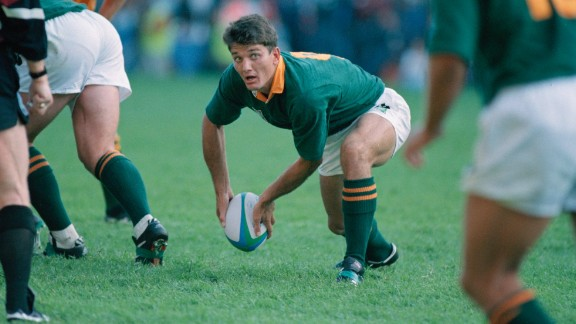 In 1995 Van der Westhuizen was part of the South Africa team which went down in sport history. The Springboks, led by captain Francois Pienaar, won the 1995 rugby World Cup final on home soil and were presented with the trophy by late president Nelson Mandela. It was a defining moment for the emerging, post-apartheid South Africa. The team