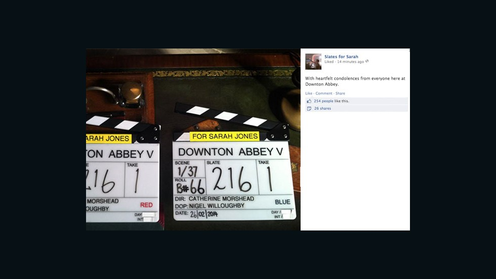 "Workers from the set of ""Downton Abbey"" shared their condolences."