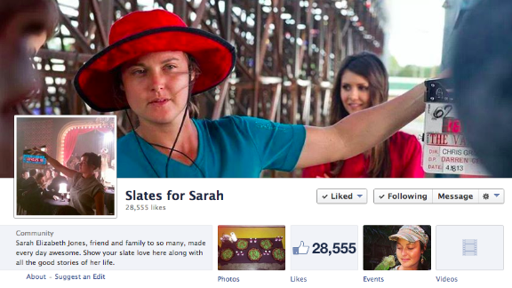 Sarah Elizabeth Jones died doing the job she loved. The South Carolina native was working as a second camera assistant when she was killed on set February 20, 2014. Her friends and the film community rallied to remember Jones in a movement called Slates for Sarah.