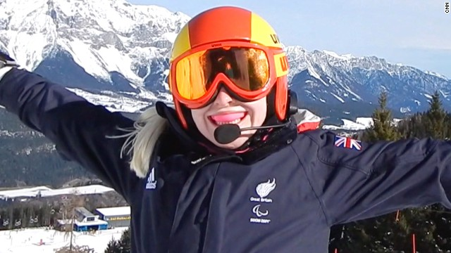 Visually impaired skier's Sochi mission