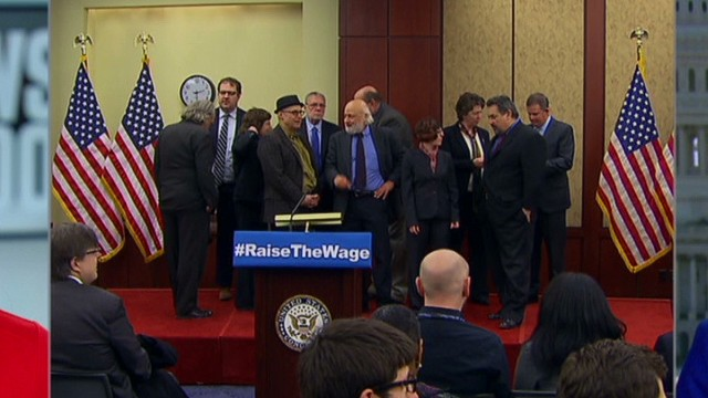 Democrats push for minimum wage hike