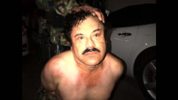 Photo: El Chapo under arrest  In a joint Mexican and US operation, Joaquin