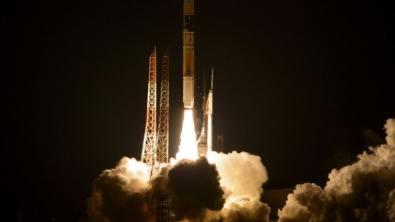 A NASA satellite blasted off on this rocket at Japan's Tanegashima Space Center at 3:37 a.m. Friday (1:37 p.m. Thursday ET).