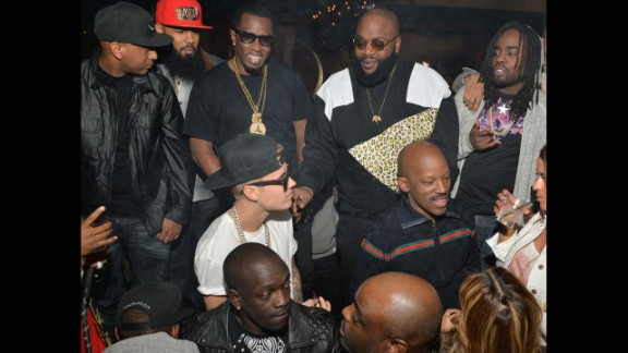 """<strong>18. Made famous friends</strong>: Bieber came into this business with one known famous friend (Usher). Now look how many he has! In Atlanta in 2014, he partied with the likes of Sean """"P. Diddy"""" Combs, Rick Ross and Wale."""