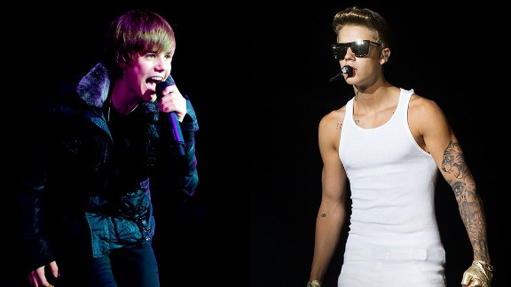 <strong>1. Got a haircut: </strong>Bieber ditched those side-swept bangs his fans obsessed about for a more adult (and masculine) look in 2011.