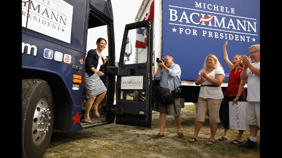 Tea party favorite Minnesota Rep. Michele Bachmann made headlines in 2011 with her Iowa straw poll win, besting eight other Republican candidates. Her presidential bid faded, and she's now retiring from Congress.