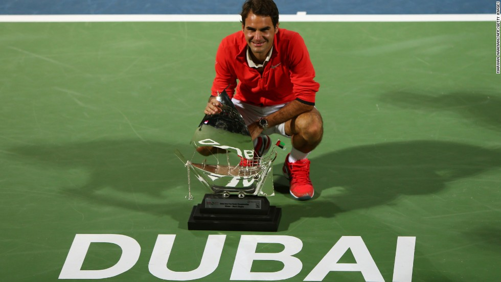 The veteran poses for photographers after clinching a sixth Dubai title and his first of 2014.