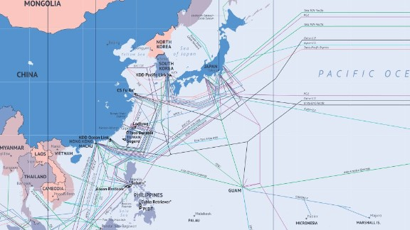 CNN: What are the major problems that occur?  AM: 75% of faults are due to external aggression -- the majority through human activity such as fishing, and ship's anchors. There are also geological factors such as sub-sea earthquakes and landslides, shifting tectonic plates and typhoons. During the 2011 tsunami in Japan about half of their cables had outages, but the operators were able to reroute capacity to other routes, so Japan held up very well. Last spring, there was damage in Mediterranean cables that linked East Africa to Europe. But it was many years ago that there was last a complete blackout.
