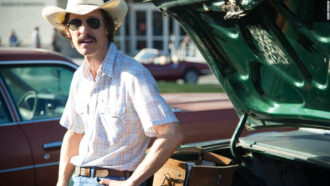 "Matthew McConaughey played AIDS activist Ron Woodroof in 2013's ""Dallas Buyers Club."" His performance netted him a best actor Oscar over competition including Chiwetel Ojiofor (""12 Years a Slave"") and Leonardo DiCaprio (""The Wolf of Wall Street"")."