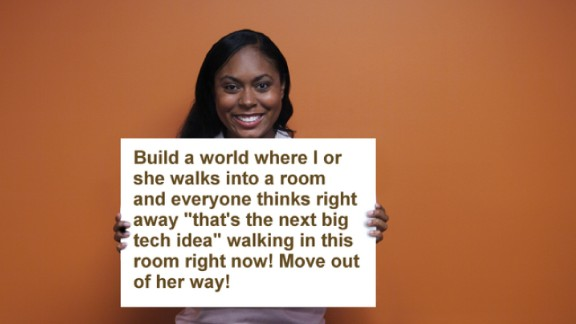 """<a href=""""http://ireport.cnn.com/docs/DOC-1095524"""">Shireen Mitchell</a> has been programming since she was just 10 years old. But even today, in a world where technology continues to infiltrate every facet of our lives, she says people find that hard to believe. For her, perceptions need to change."""