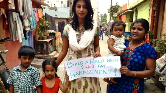 """Indian iReporter <a href=""""http://ireport.cnn.com/docs/DOC-1089411"""">Meera Vijayann</a> wants all of us to remember that we have the power to create a safe environment. """"In streets and alleyways across Bangalore, communities are often vulnerable to crimes as they lack the power to report these crimes to the authorities,"""" she says."""