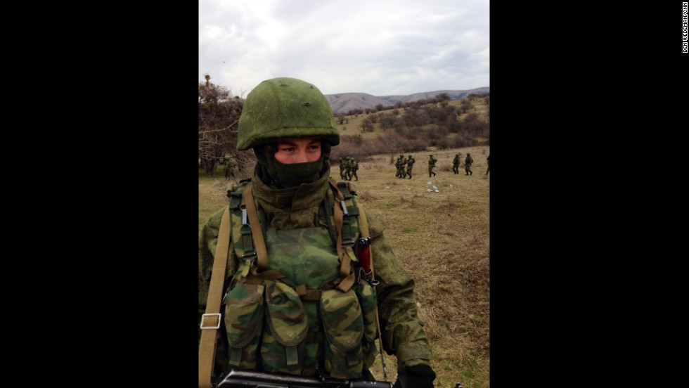 "PEREVALNOYE BASE, UKRAINE:  ""Outside Ukrainian base in Crimea (March 2), tight-lipped but obviously Russian marines deploy around perimeter as Ukrainian soldiers inside vow not to surrender."" - CNN's Ben Wedeman.  Follow Ben on Instagram at <a href=""http://instagram.com/bcwedeman"" target=""_blank"">instagram.com/bcwedeman</a>."