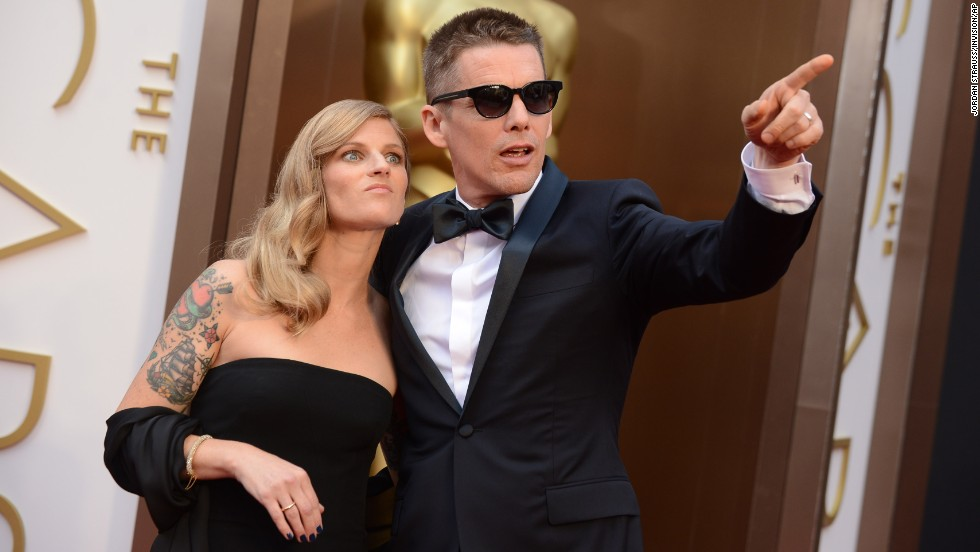 Ethan Hawke and his wife, Ryan