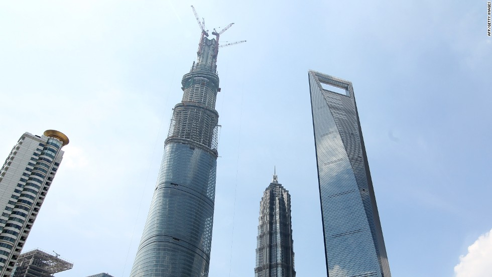 <strong><em><u>Name:</u></em></strong> Shanghai Tower<br /><br /><strong><em><u>Location:</u></em></strong> Shanghai, China<br /><br /><strong><em><u>Height:</u></em></strong> 632 meters (2,073 feet)<br /><br /><strong><em><u>Description:</u></em></strong><em> </em>The Shanghai Tower is currently the tallest building in China and the second tallest building in the world, behind the Burj Khalifa in Dubai, having been topped out in 2013. When it officially opens in 2015 it will house office space as well as one of the world's highest hotels.