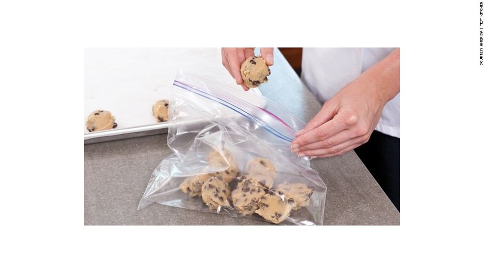 Freeze the dough until it's completely firm (for between two to three hours) then transfer them to a zipper-lock freezer bag and freeze them for up to 2 weeks.