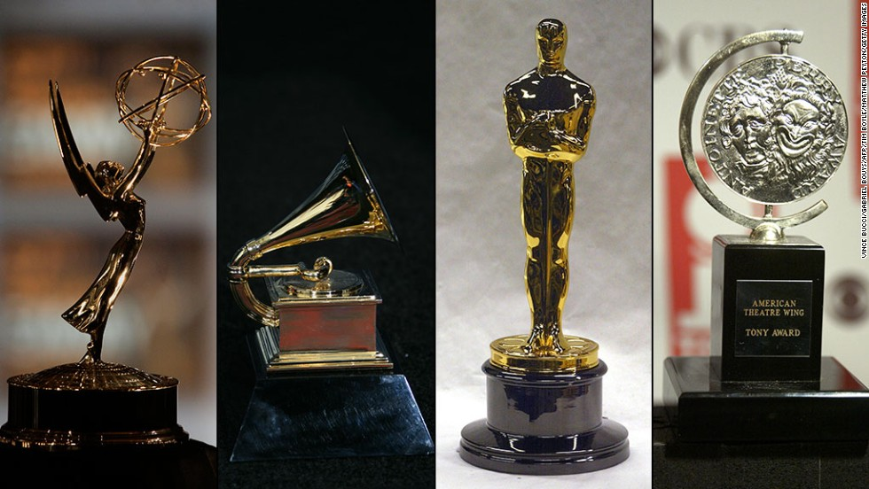 It's a very exclusive club. Only 12 people in history have won the four major entertainment awards -- the Emmy, Grammy, Oscar and Tony -- in competition. Three others have all four thanks to honorary awards.