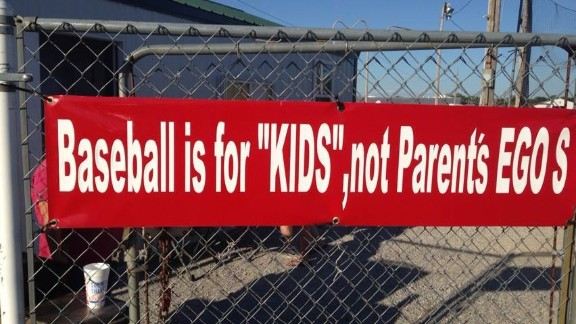 """How many errors do you see? This is at the Nevada, Missouri, fairground ball fields where Terri Fallin's son plays baseball. """"I want to sneak in at night with paint to make corrections. ... I offered money to personally have new signage, with no luck."""""""