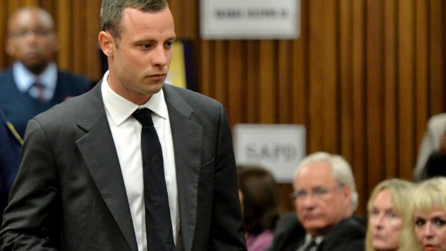 Oscar Pistorius at the Pretoria High Court on March 3, 2014, in Pretoria, South Africa.