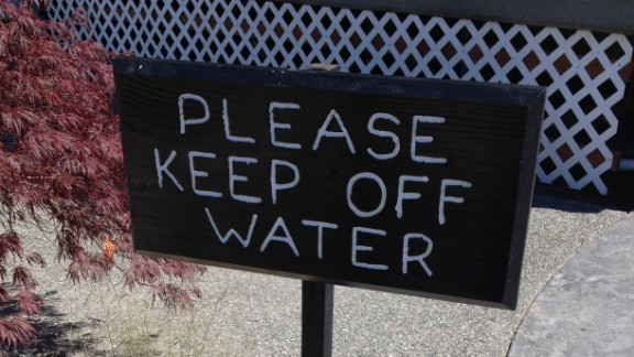 """Debbie Kuhlmann laughed when she spotted this sign next to a fountain in Kingston, Washington. """" 'Off' is the wrong preposition for this sign, unless people were walking on the water in the fountain,"""" she said. """"Grammar reveals your level of competence and your attention to detail."""""""