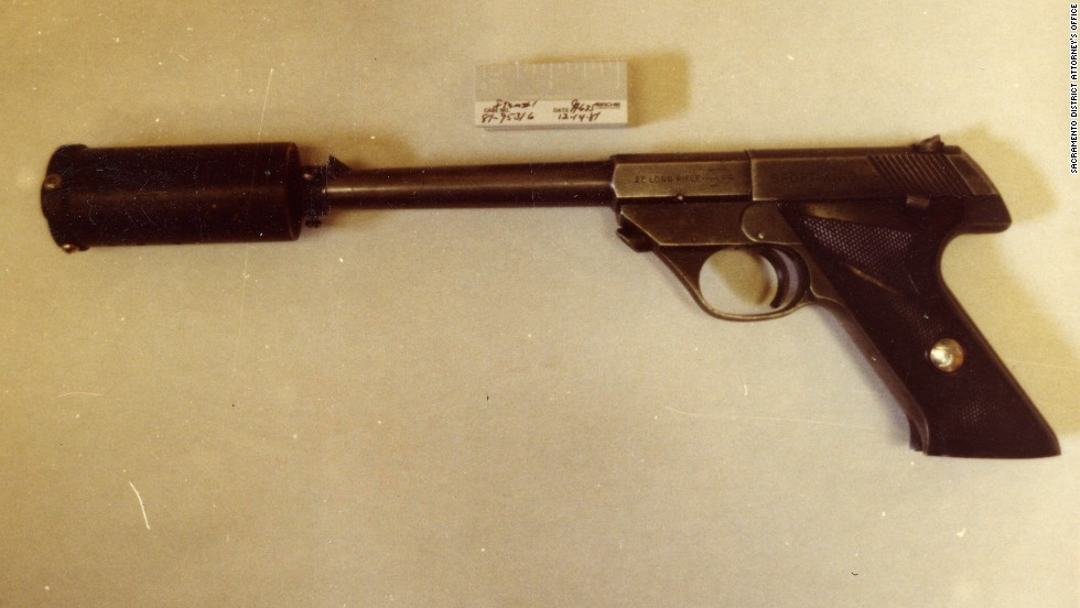 Prosecutors said this was the gun used to shoot the Davies couple. Ed Davies died at the scene. Grace Davies, who had also been shot, was able to free herself and crawl away from the house to reach help. She was later able to testify at trial.