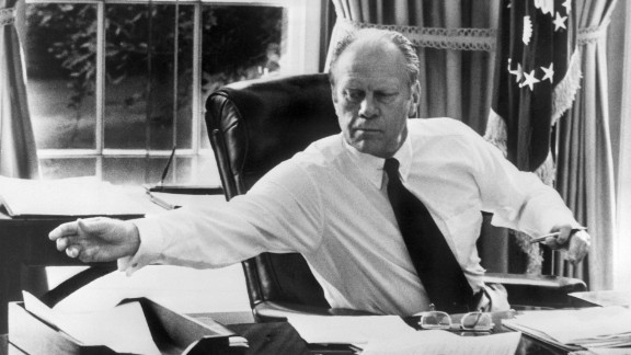 """Gerald Ford, the 38th president, enjoyed pot roast and red cabbage with butter pecan ice cream for dessert, according to the <a href=""""https://www.fordlibrarymuseum.gov/grf/grffacts.asp"""" target=""""_blank"""" target=""""_blank"""">Gerald R. Ford Presidential Library and Museum</a>."""