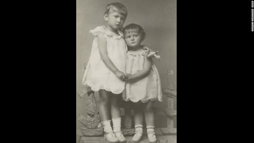 Alex Storozynski's mother Irena Krzyzanowska, right, was 2 years old and her sister Lucy was 3-and-a-half when they posed for this photo in 1930 in Rowne, Poland, which is now Rivne, Ukraine.